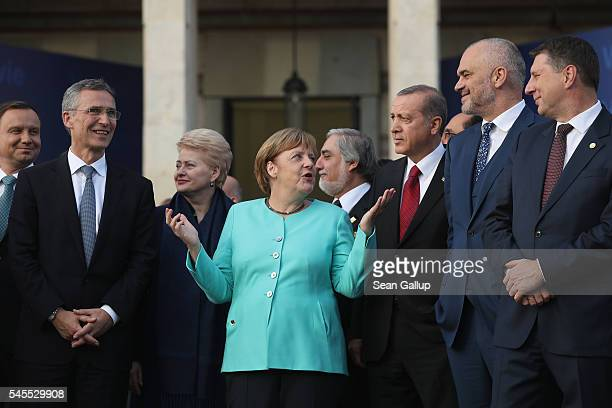 NATO Secetary General Jens Stoltenberg Lithuanian President Dalia Grybauskaite German Chancellor Angela Merkel Afghan Chief Executive Officer...