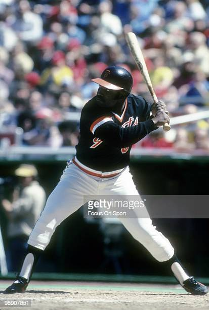 Second baseman Joe Morgan of the San Francisco Giants ready to hit waiting on the pitch circa 1981 during a Major League Baseball game Morgan played...