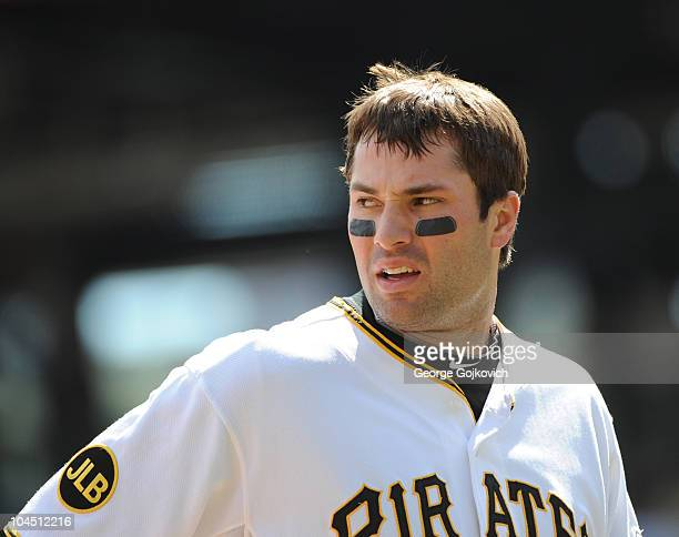 Second baseman Neil Walker of the Pittsburgh Pirates looks on from the field after batting during a Major League Baseball game against the Washington...