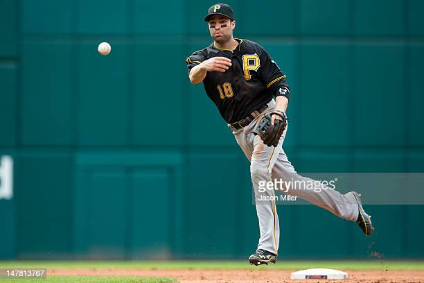 Second baseman Neil Walker of the Pittsburgh Pirates throws to first after fielding a ground ball during the sixth inning against the Cleveland...
