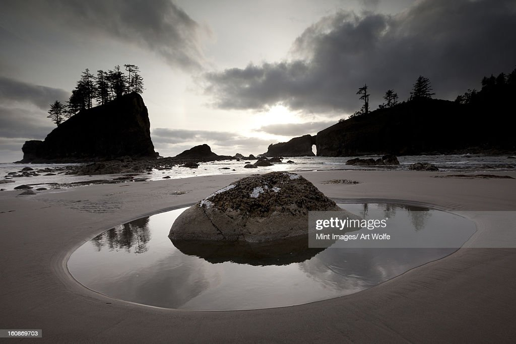 Second beach, Olympic National Park, Washington, USA : Stock Photo