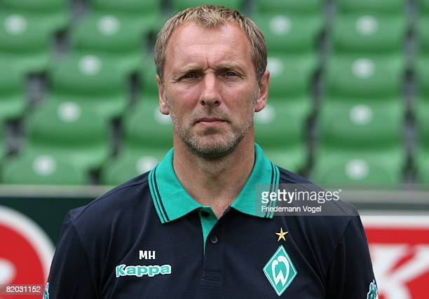 Second Coach Matthias Hoenerbach poses during the Bundesliga 1st team presentation of Werder Bremen at the Weser stadium on July 22 2008 in Bremen...