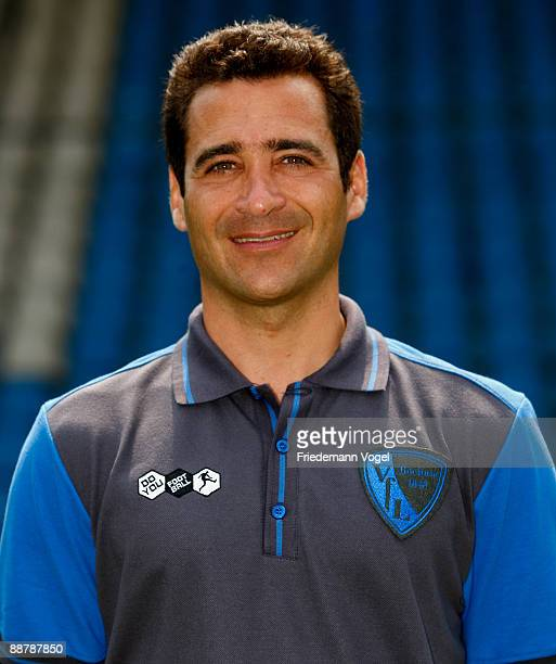 Second coach Nicolas Michaty poses during the VfL Bochum team presentation at the rewirpower stadium on June 29 2009 in Bochum Germany