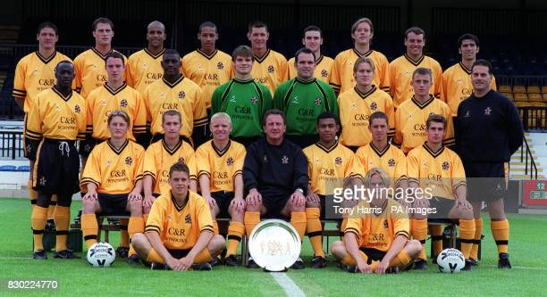 Second Division Cambridge United FC at The Abbey Stadium * Darren Cockrill Andy Duncan Scott Eustace Marc Joseph John Taylor Martin McNeil Ian Ashbee...
