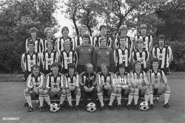 Second Division Newcastle United FC photo call for the 198081 season Steve Carney John Connolly Bobby Shinton Stuart Boam Bill Rafferty Kenny...