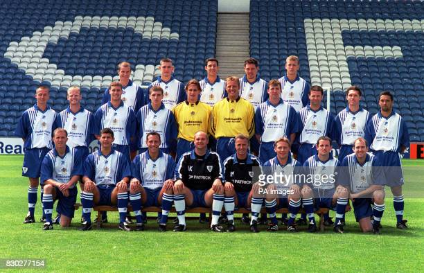 Second Division Stockport County FC at Edgeley Park Stadium * Back Row Shane Nicholson Adam Lillis Martin McIntosh Brett Angell Aaron Wilbraham...