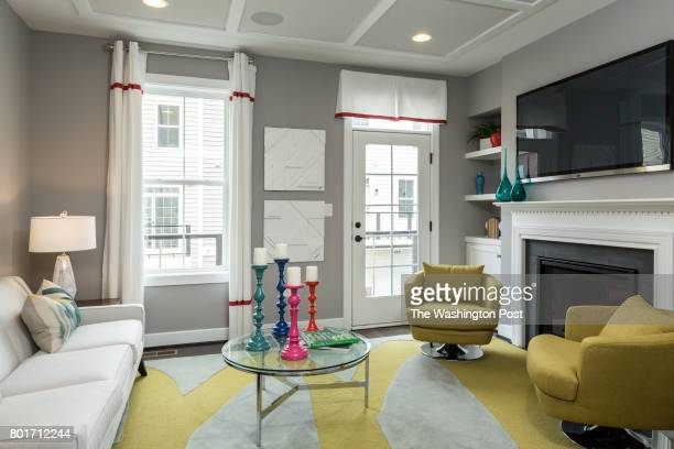 Second Floor Living Room in The Barton model Home by Winchester Homes at Glenmont Metro Center on June 16 2017 in Silver Spring Maryland
