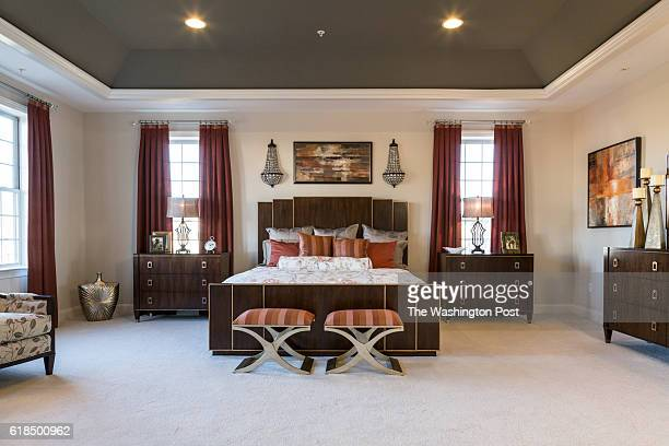 Second Floor Master Suite in the Hawthorn Model at Maple Lawn on January 19 2016 in Fulton Maryland
