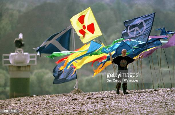 Second generation Campaign for Nuclear Disarmament campaigner Craig 'Portaloo' at a protest camp set up on the Rhu Spit sandbank near Faslane Naval...