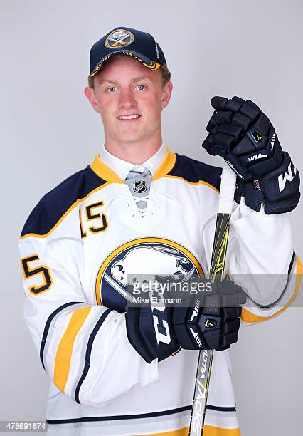 Second overall pick Jack Eichel of the Buffalo Sabres poses for a portrait during the 2015 NHL Draft at BBT Center on June 26 2015 in Sunrise Florida