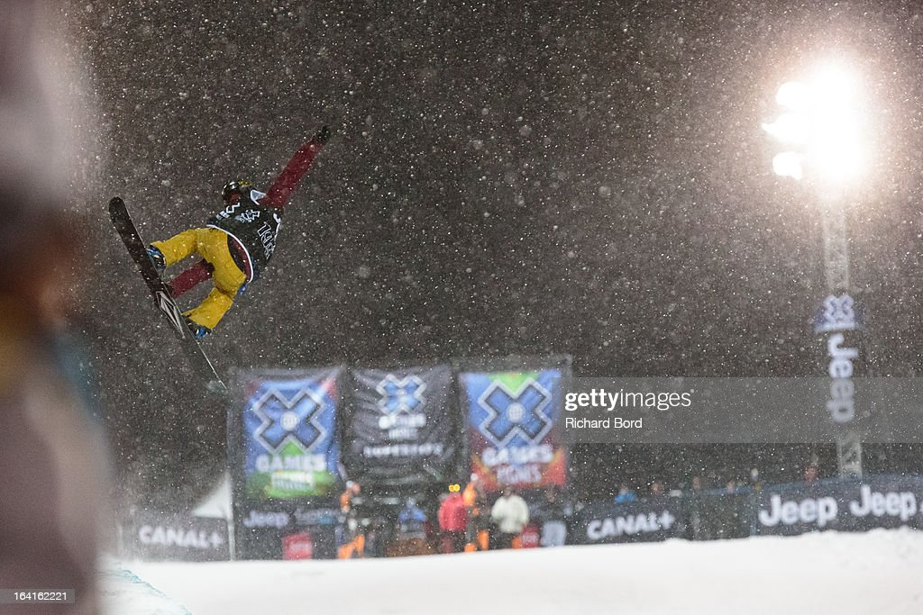 Second place Elena Hight performs during the Women's Snowboard Superpipe final during day three of Winter X Games Europe 2013 on March 20, 2013 in Tignes, France.
