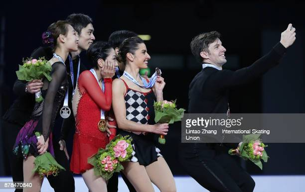 Second place winner Cheng Peng and Yang Jin of China First place winner Sui Wenjing and Han Cong of China Third place winner Valentina Marchei and...