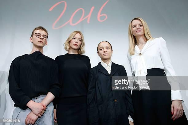 Second Prize Vejas Kroszewski Lea Seydoux Winner of Prize Grace Wales Bonner and Delphine Arnault attend the LVMH Prize 2016 Young Fashion Designer...