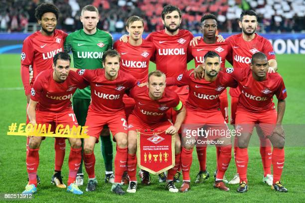 Spartak Moscow's forward from Brazil Luiz Adriano Spartak Moscow's goalkeeper from Russia Alexander Selikhov Spartak Moscow's defender from Russia...