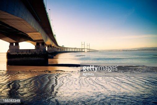 Second Severn Crossing bridge at night