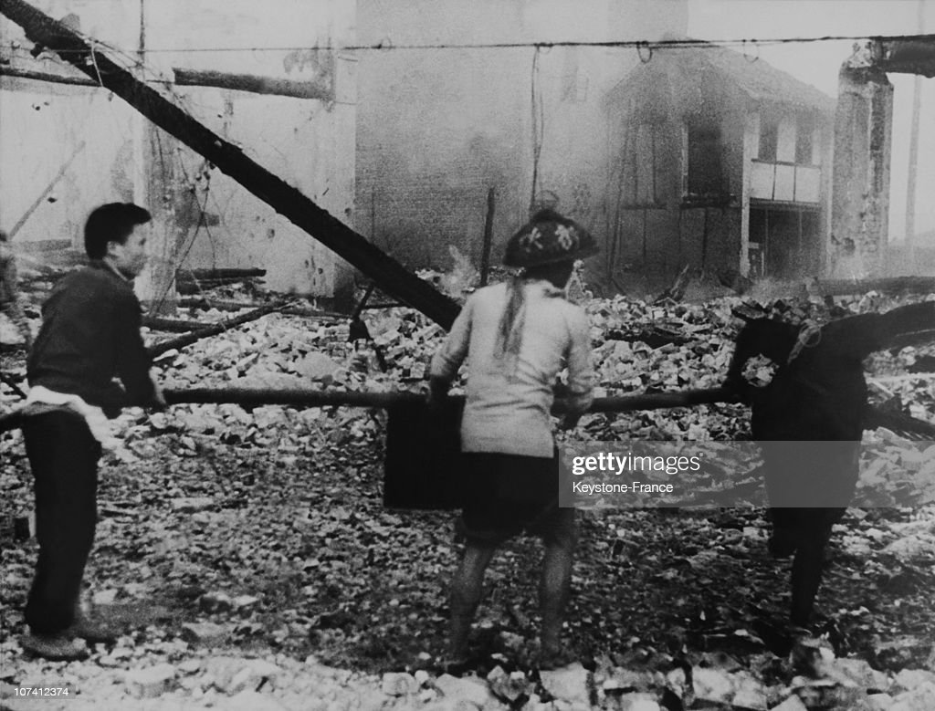 Second Sino Japanese War After A Japanese Bombing In Chongqing China On July 1939
