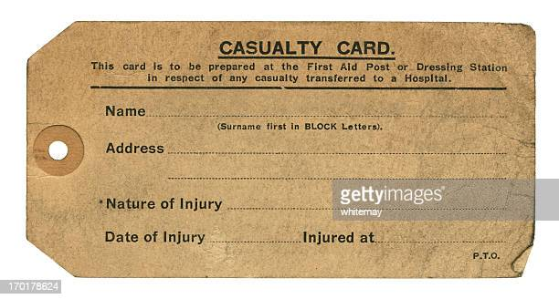 Second World War Casualty Card