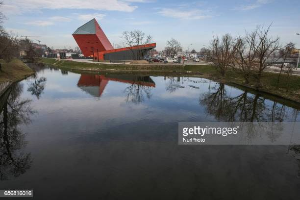 Second World War Museum building is seen on 23 March 2017 in Gdansk Poland World War II Museum the biggest of its kind in Poland was oppened in...