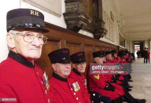 Second World War veterans Stan Kendrick from Salford in Lancashire James Wilson from Belfast in Northern Ireland and Gordon White from Greenwich in...