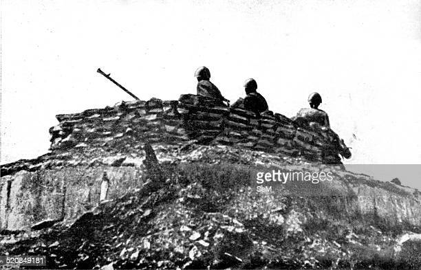 Second World WarWar in ItalyArmistice and Fascism Italian antiaircraft station on the Greek island of Leros during the days of 8 September 1943...