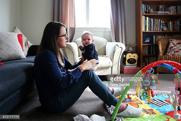 Secondary school teacher Sarah Ward at home on maternity leave with her three month old daughter Esme Kelliher is in the last week of her paid...