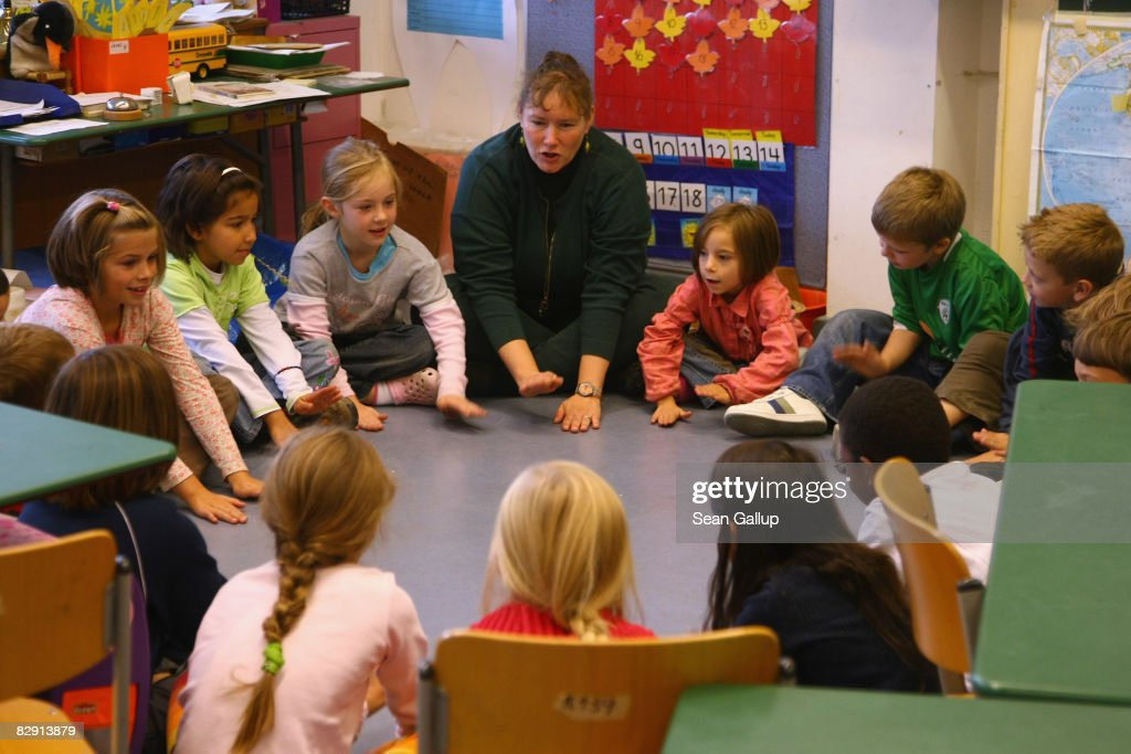Second-grade children attend class in the elementary school at the John F. Kennedy Schule dual-language public school on September 18, 2008 in Berlin, Germany. The German government will host a summit on education in Germany scheduled for mid-October in Dresden. Germany has consistantly fallen behind in recent years in comparison to other European countries in the Pisa education surveys, and Education Minister Annette Schavan is pushing for an 8 percent increase in the national educaiton budget for 2009.
