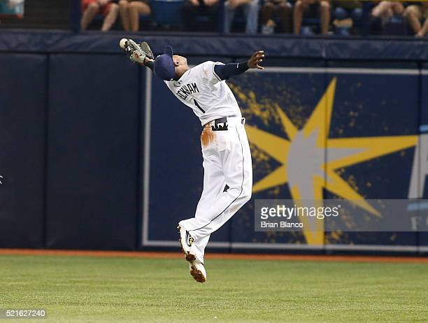 Seconds baseman Tim Beckham of the Tampa Bay Rays makes an attempt but misses the double by Todd Frazier of the Chicago White Sox during the fourth...