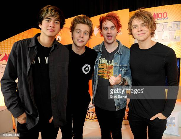 Seconds of Summer attend iHeartRadio Jingle Ball 2014 hosted by Z100 New York and presented by Goldfish Puffs at Madison Square Garden on December 12...