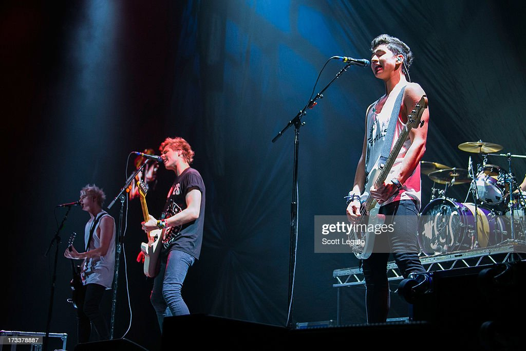 5 Seconds of Summer performs at The Palace of Auburn Hills on July 12, 2013 in Auburn Hills, Michigan.