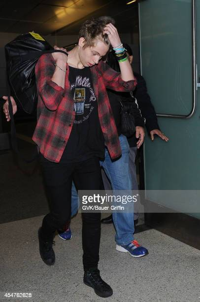Seconds of Summer seen at LAX on September 05 2014 in Los Angeles California