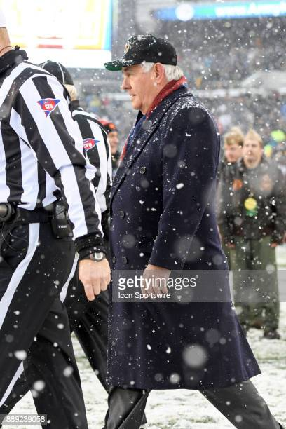 Secratary of State Rex Tillerson walks on the field for the coin toss at the 118th Army Navy Game on December 9 2017 at Lincoln Financial Field in...