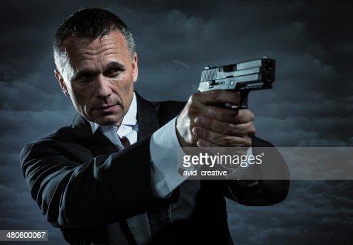 Secret Agent Armed With Handgun