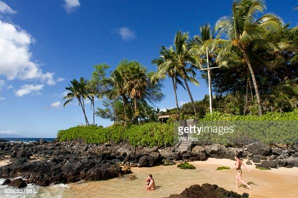Secret Cove Beach Maui Hawaii Pa'ako Beach otherwise known as Secret Cove is a notsosecret beach just south of Big Beach in Makena It is probably...