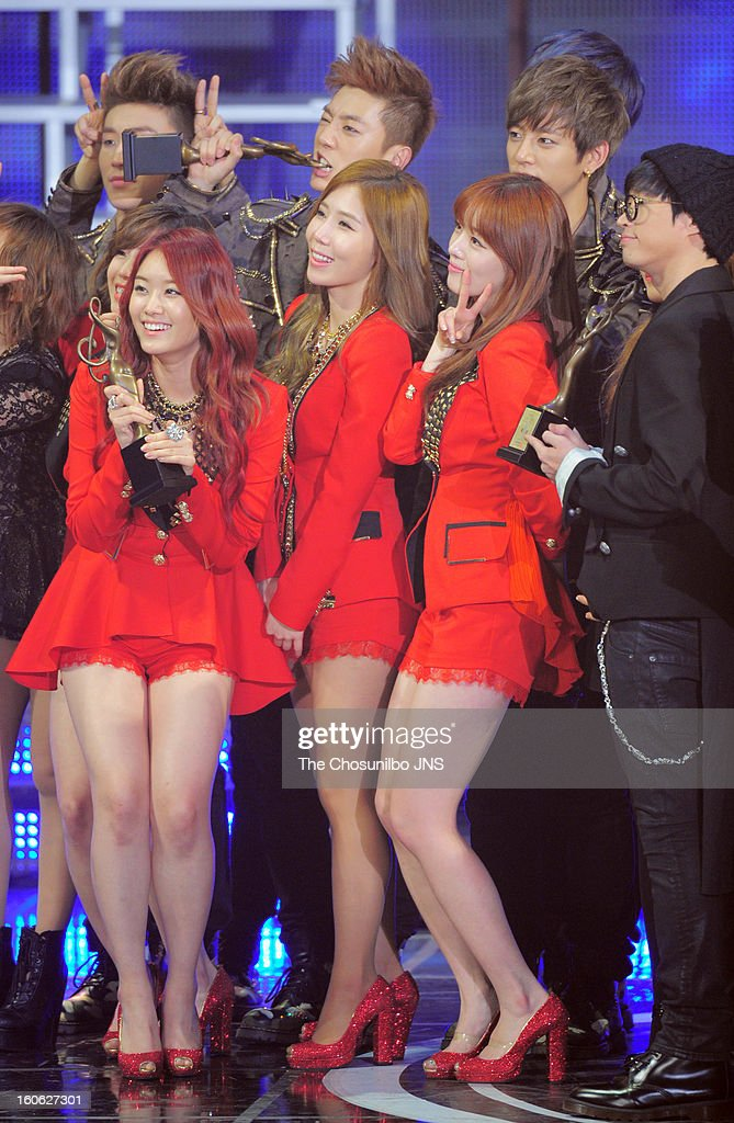 Secret pose during the 22nd High 1 Seoul Music Awards at Olympic Park on January 31, 2013 in Seoul, South Korea.
