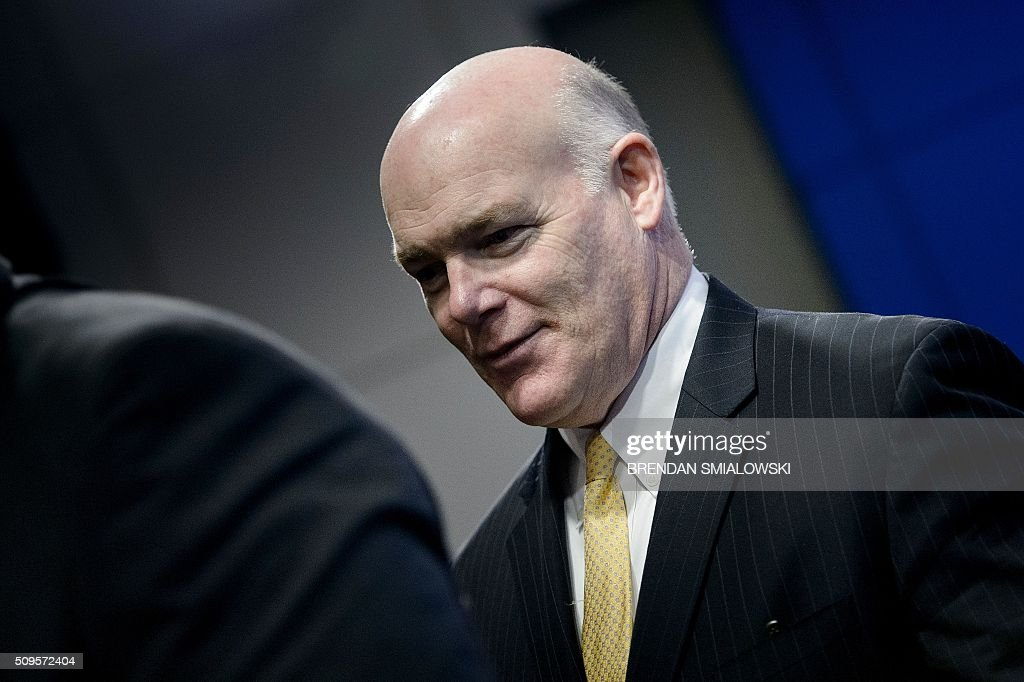 US Secret Service Director Joseph Clancy leaves after listening to US Secretary of Homeland Security Jeh Johnson speak during a state of the Department of Homeland Security at the Woodrow Wilson Center February 11, 2016 in Washington, DC. / AFP / Brendan Smialowski