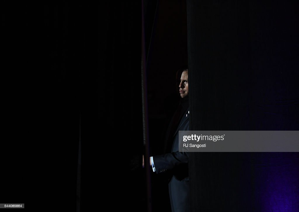 Secret service looks over the stage as Sarah Palin speaks the 2016 Western Conservative Summit the Colorado Convention Center in Denver, July 01, 2016. It is the 7th annual Western Conservative Summit.