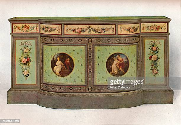 Secretaire commode circa 1785 The medallions are all derived from Angelica Kauffmanns work Representing Una and the Lion the lovers Damon and...