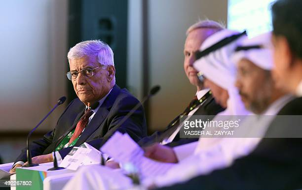 OPEC secretary general Abdullah elBadri delivers a speech during a conference as part of the Kuwait Oil and Gas show in Kuwait City on October 11...