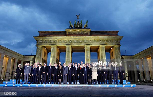 Secretary General Anders Fogh Rasmussen US Secretary of State Hillary Clinton and German Foreign Minister Guido Westerwelle and other NATO countries...
