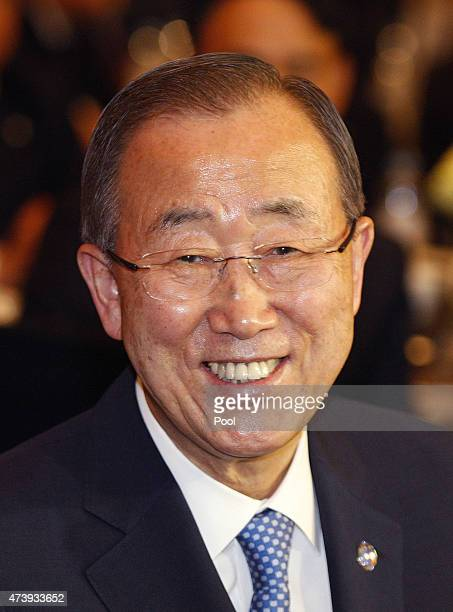 N Secretary General Ban KiMoon attends the UN Global Compact to hold summit at the Conrad Hotel on May 19 2015 in Seoul South Korea The UN Secretary...