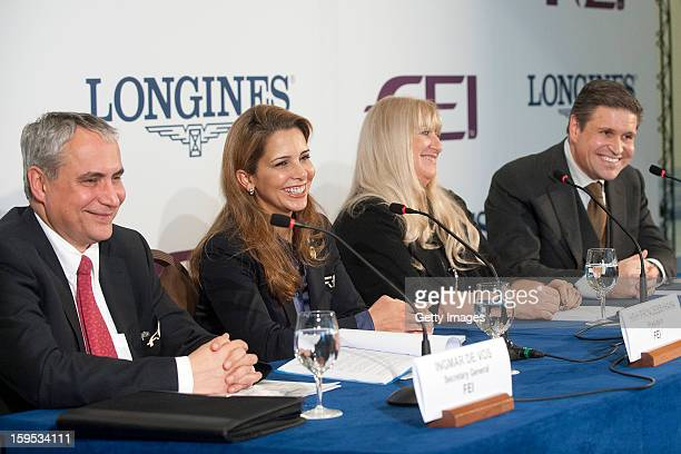 FEI Secretary General Ingmar De Vos FEI President HRH Princess Haya of Jordan Chair of the Board of Directors of the Swatch Group Mrs Nayla Hayek and...