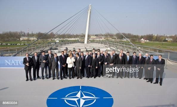 NATO Secretary General Jaap de Hoop Scheffer US President Barack Obama German Chancellor Angela Merkel French President Nicolas Sarkozy Turkish...