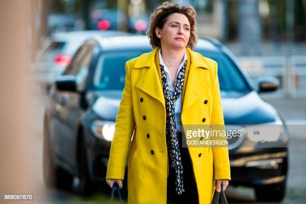 Secretary general of Germany's liberal free democratic part Nicola Beer arrives for continuing exploratory talks to form a new government on October...