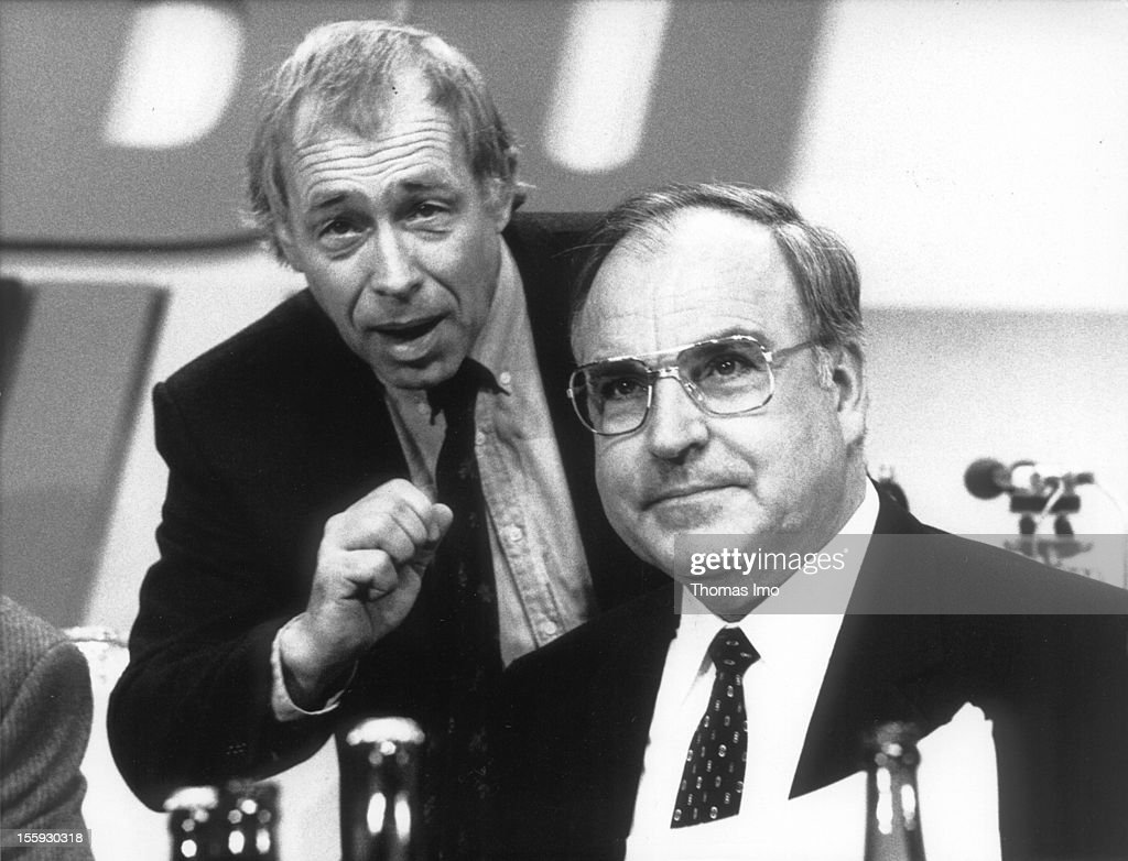 Secretary General of the CDU Heiner Geissler and Chairman of the CDU Helmut Kohl at the Party Convention of the Christian Democratic Union, November 03, 1981, Hamburg, Germany.
