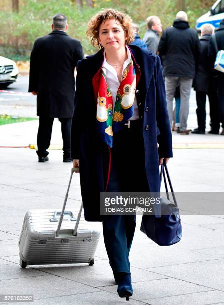 Secretary General of the Free Democratic Party Nicola Beer arrives at the representative office of BadenWuerttemberg for further exploratory talks...