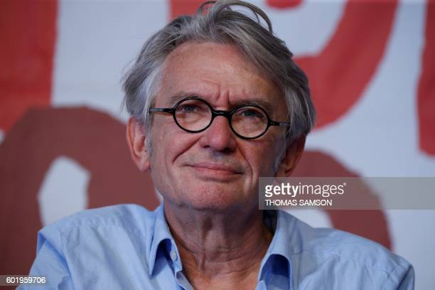 Secretary General of the French worker's union Force Ouvriere JeanClaude Mailly takes part in a meeting as part of the Fete de l'Humanite in La...