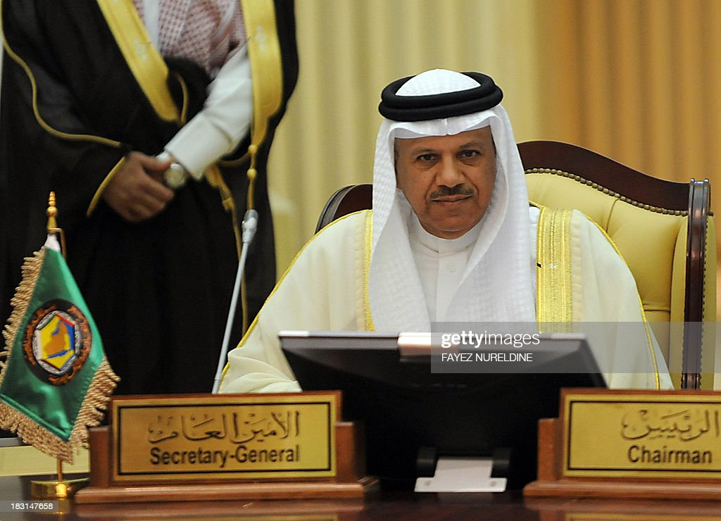 Secretary General of the Gulf Cooperation Council (GCC), Abdullatif al-Zayani, attends the GCC finance ministers meeting in Riyadh on October 5, 2013.