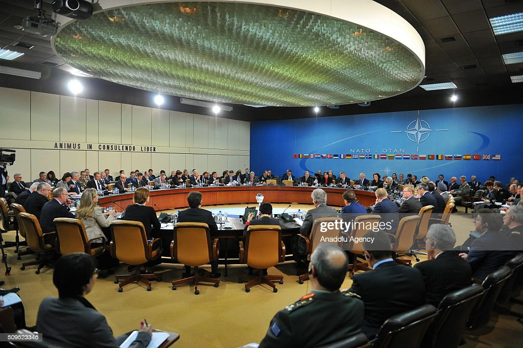 Secretary General of the North Atlantic Treaty Organization (NATO) Jens Stoltenberg chairs the NATO Defence Ministers Meeting which is being held in Brussels, Belgium on February 11, 2016.