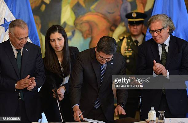 Secretary General of the Organization of American States Luis Almagro attends the enactment of a 'Clean politics' law regarding the control and...