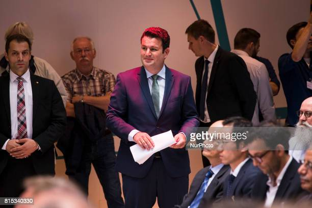 Secretary General of the Social Democratic Party Hubertus Heil attends the event 'Zukunft Gerechtigkeit Europa' at the SPD headquarters...